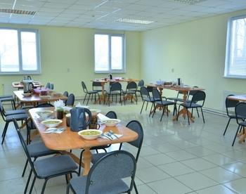 Столовая в реабилитационном центре для алкоголиков в Воронеже