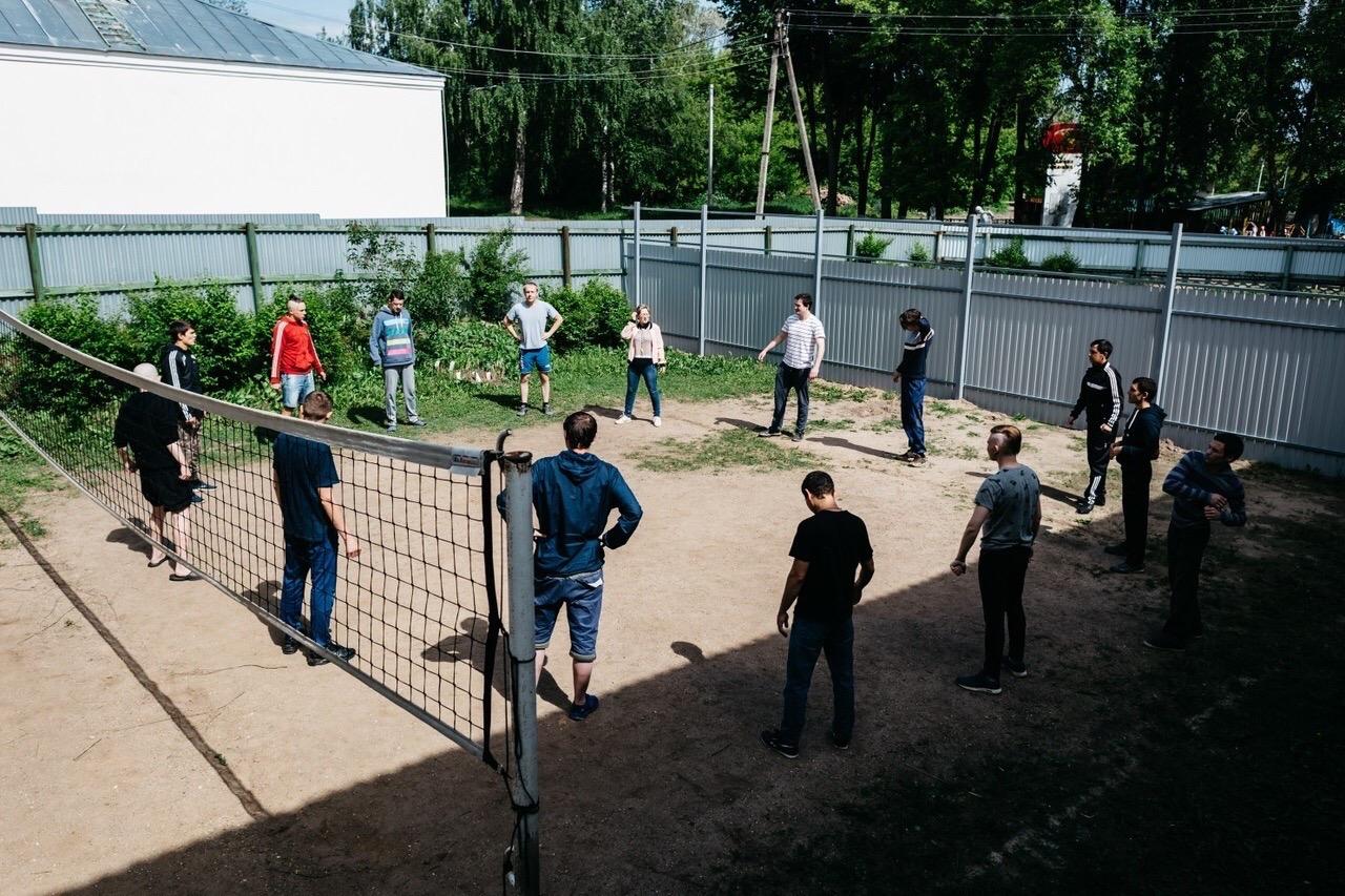 Зарядка в центре реабилитации Нерехта