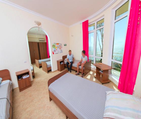 Спальня в реабилитационном центре вершина сочи