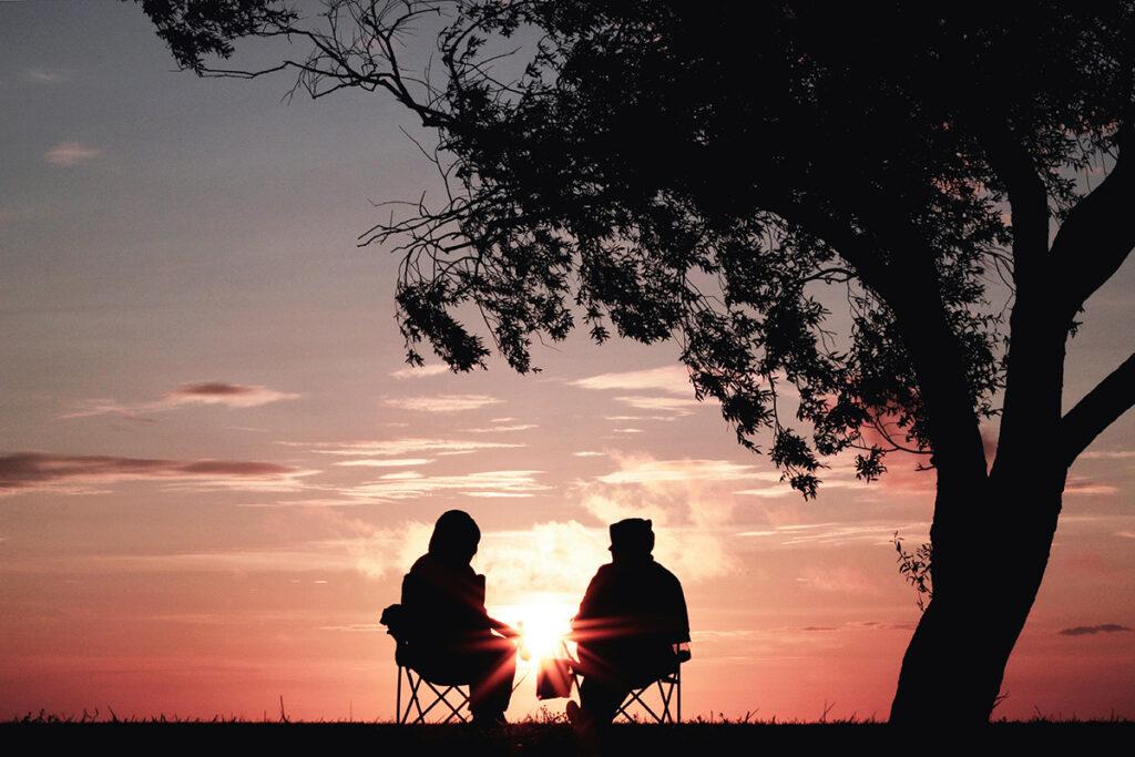 Интервенция и разговор с алкоголиком на природе